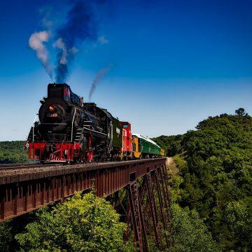 Train Locomotive Travel Transportation Railroad